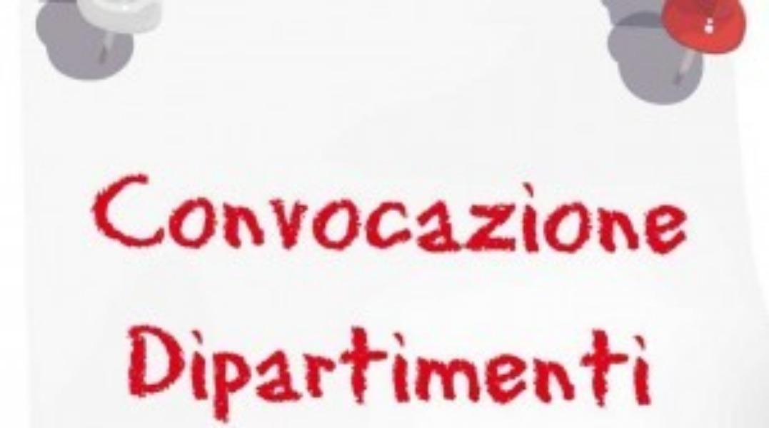 Convocazione dipartimenti Infanzia 11/03/2019